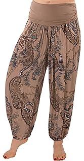 FASHION YOU WANT Damen Haremshose Pumphose Sommerhose großes Paisleymuster  Größe 34 36 bis Größe 48 7e909a95d8
