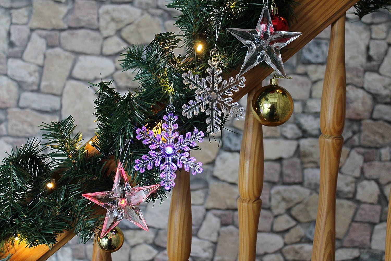 Kamaca 4 Stück LED - Farbwechsel - Dekoration Stern und Schneeflocke ...