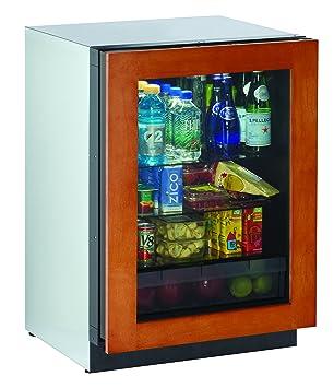 24u0026quot; Glass Door Refrigerator, Right Hinge, Overlay