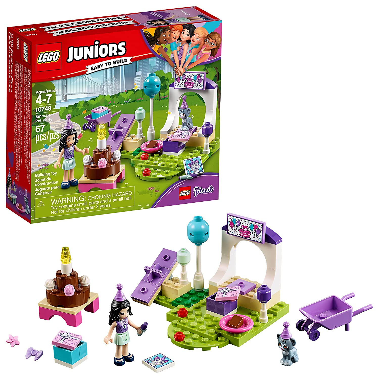 LEGO Juniors 6210206 Emma's Pet Party 10748 Building Kit (67 Piece)