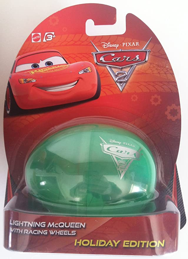 Amazon.com: Disney Pixar Cars 2 Holiday Edition 2012 Easter Egg Set Lightning McQueen, Holley Shiftwell, Race Team Sarge, Rod