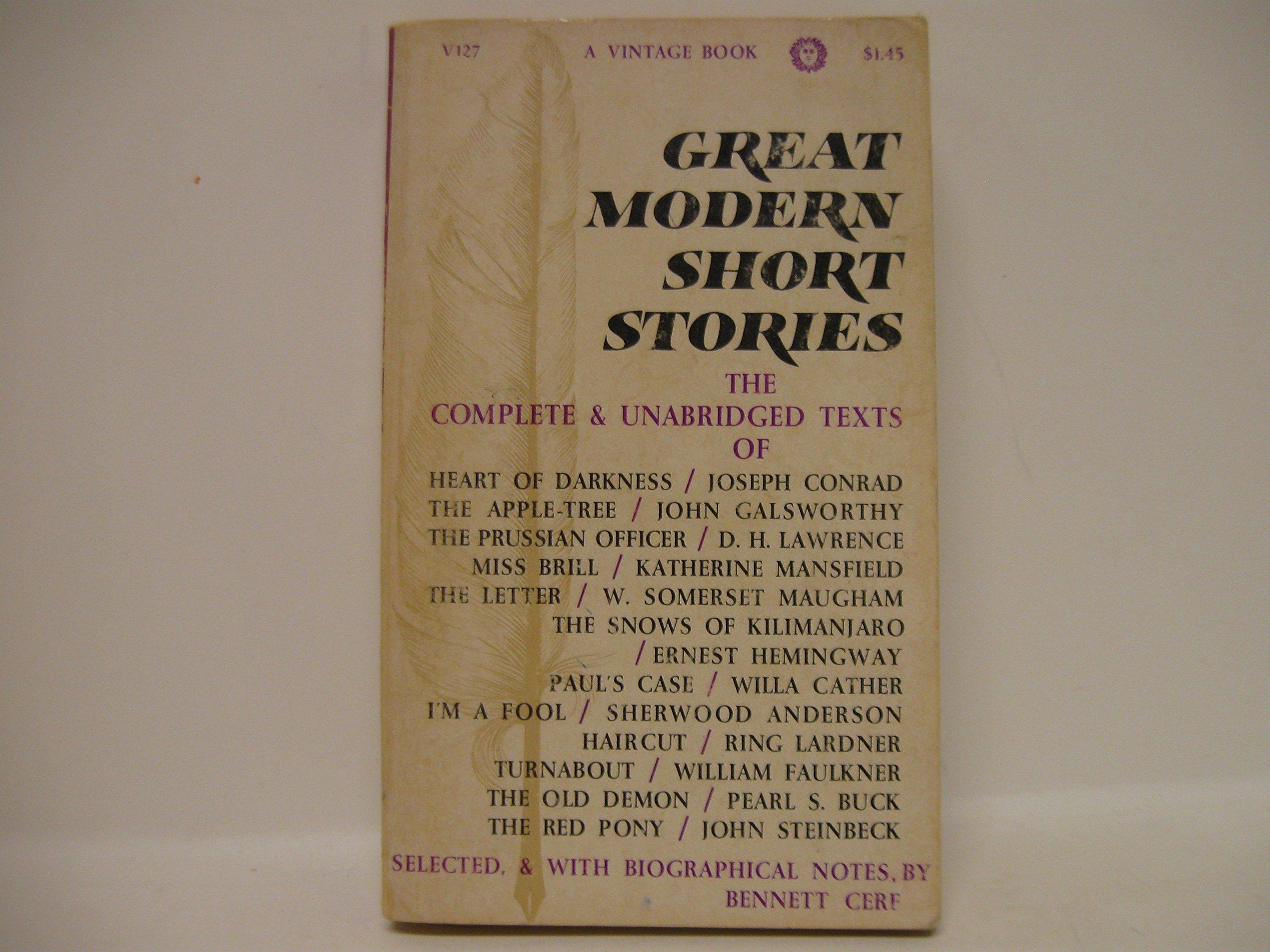 Great Modern Short Stories Bennett Cerf Amazon Books