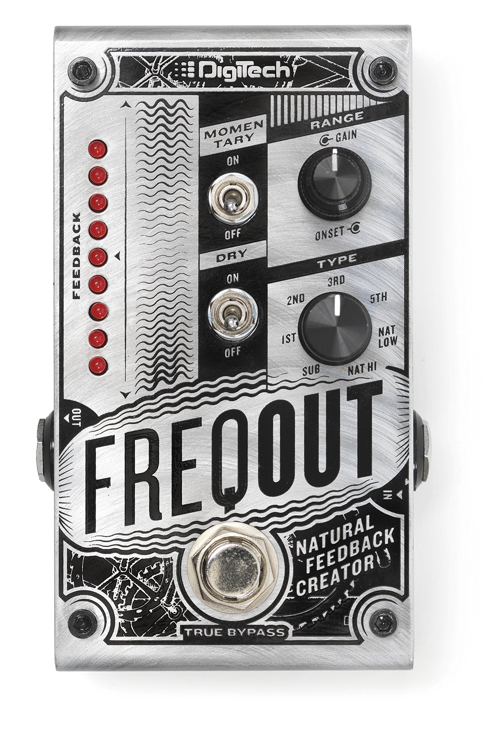DigiTech Dynamic Feedback Guitar Expression Pedal, Silver (FREQOUT-U)