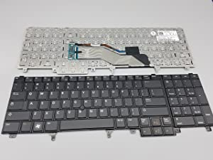 New Keyboard for Dell Latitude Dell Latitude E6520 E6530 E6540 Notebook US Layout P/N: Precision M4600 M4700 M6600 M6700 HG3G3 0HG3G3 7T425 07T425 0467D9 NSK-DWOUF 55010K100-035-G Black