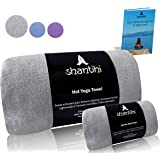 Shantihi Hot Yoga Mat Towel or/and Travel Gym Workout Exercise Hand Towel - Best Premium Sports Yoga Accessories. Quick Dry Non Slip Microfiber, Absorbent, Lightweight