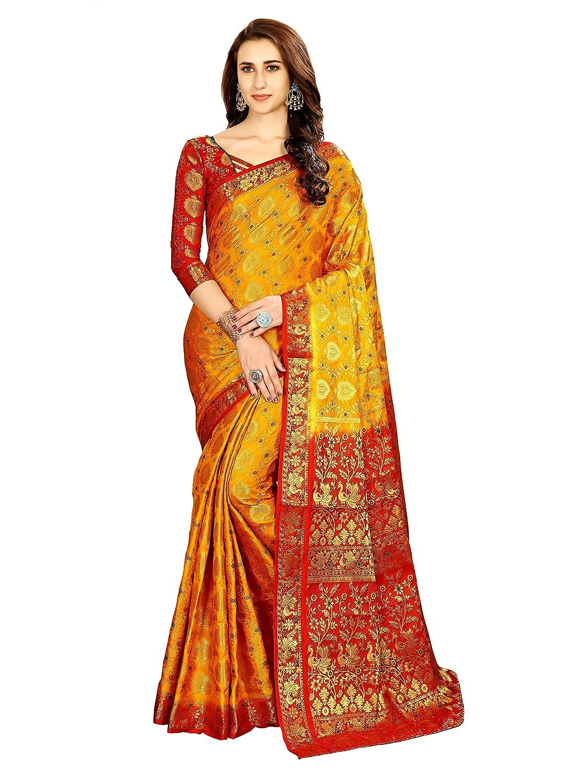 Best Silk with Blouse Piece Saree