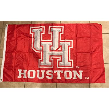University of Houston Cougars 3 Feet X 5 Feet Football Flag Banner Bar Decor Man Cave