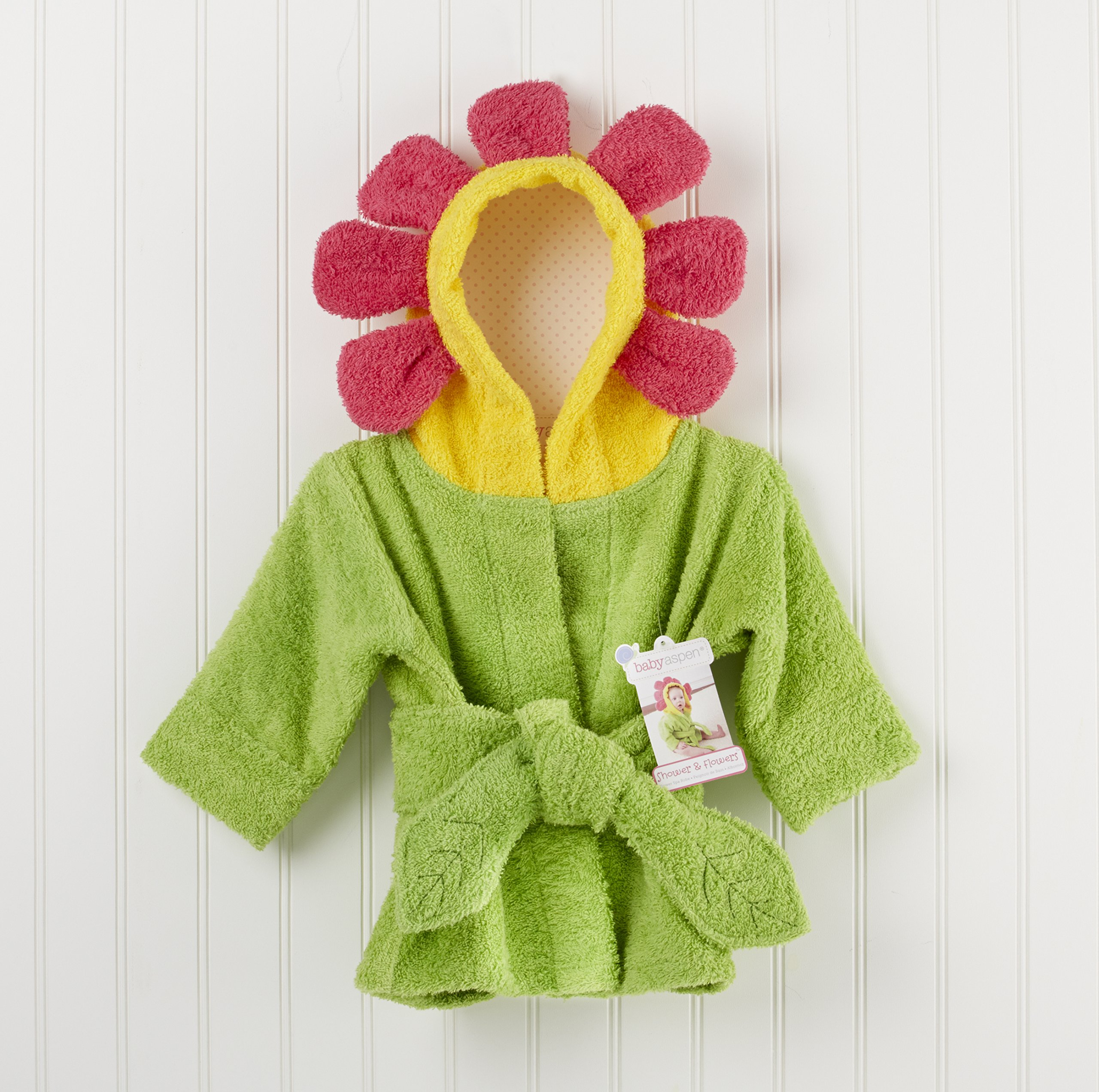 Baby Aspen Hooded Spa Robe, Showers and Flowers by Baby Aspen (Image #2)