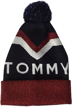 Tommy Hilfiger Women s Tommy Chevron POM Beanie 5e80b1f60df0