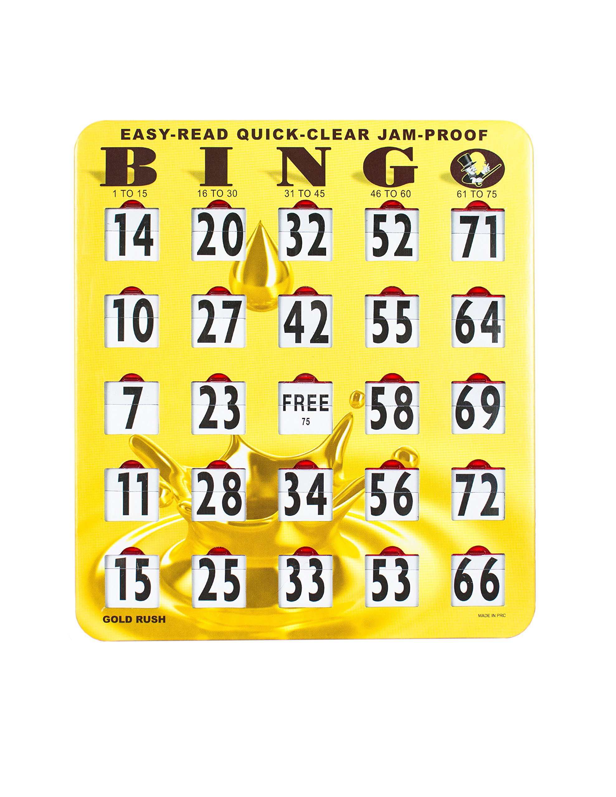 Easy Read Quick Clear Jam Proof Bingo Shutter Cards, 50 Count by Mr. Chips (Image #2)