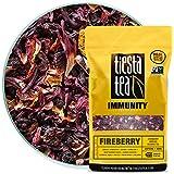 Cranberry Hibiscus Rooibos Tea | FIREBERRY 1 Lb Bag by TIESTA TEA | Caffeine Free | Loose Leaf Herbal Tea Immunity Blend | Non-GMO