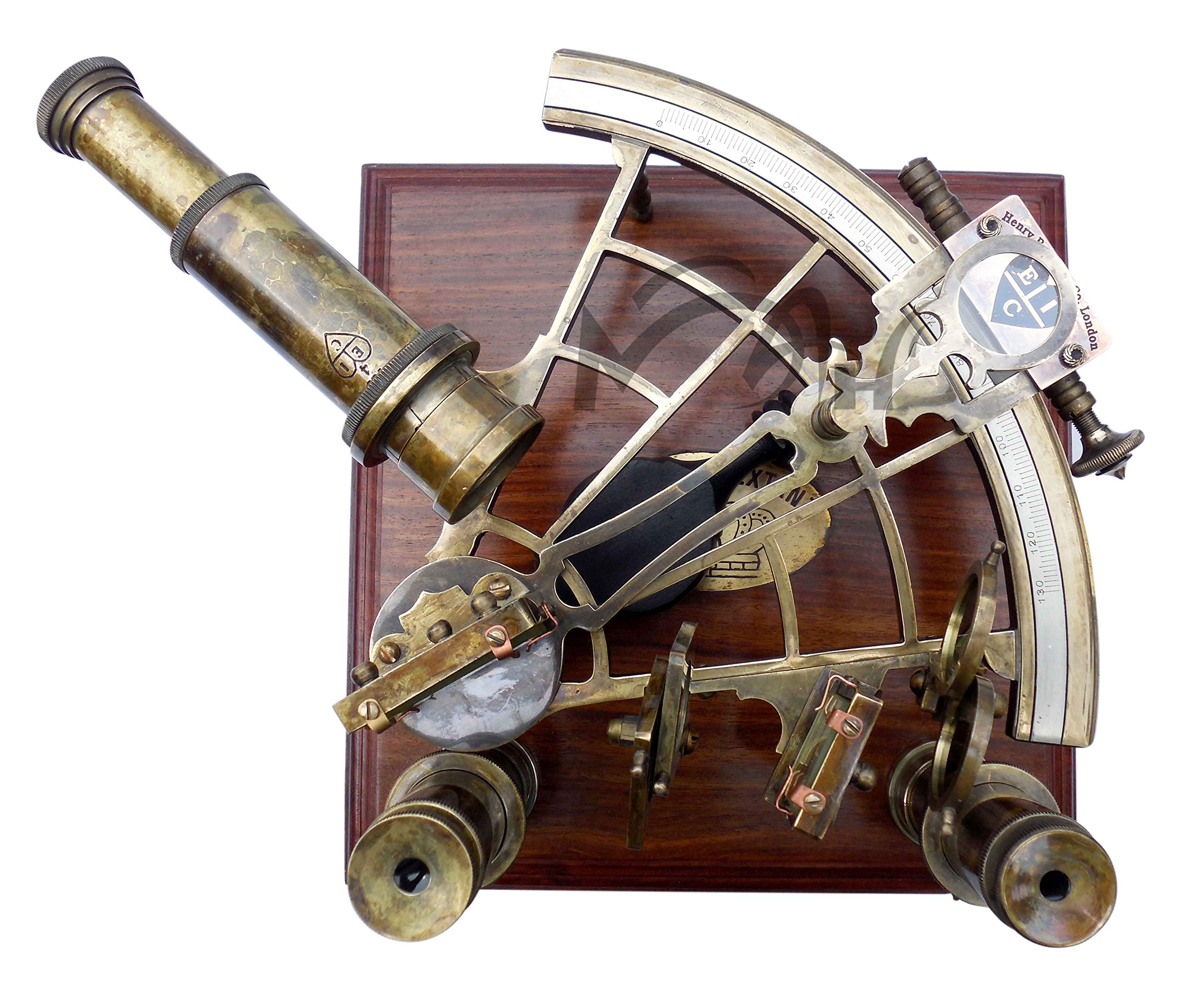 MAH 8'' Maritime Antiques Marine Captain Sextant with Wooden Box. C-3083 by MAH