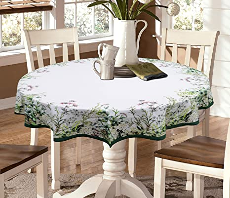 ca77959a7 Buy Miyanbazaz Textiles 100% Cotton Digital Printed 4-6 Seater Round  Tablecloth Dining Table Cover Multicolored 65 Inch Online at Low Prices in  India ...