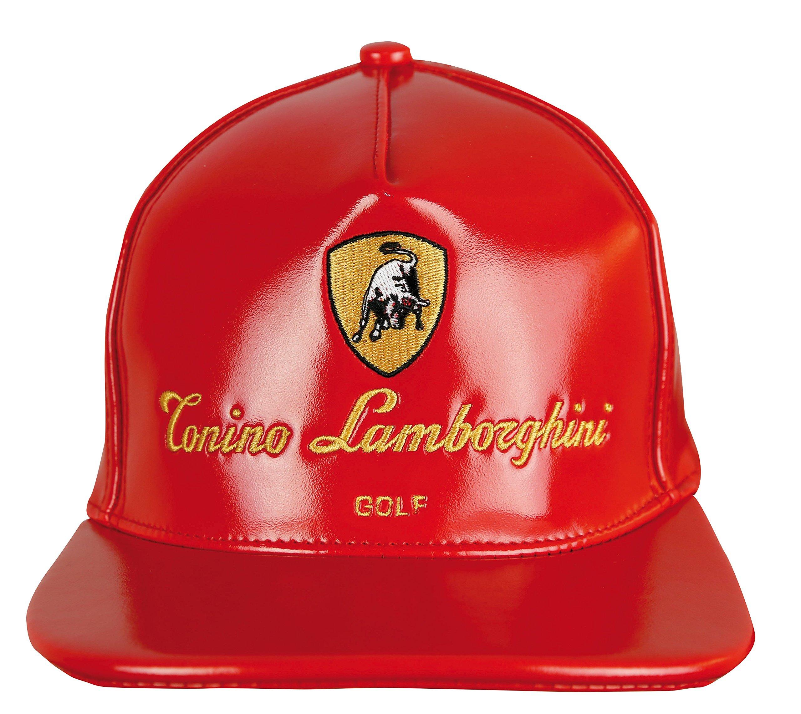 Tonino Lamborghini Unisex Synthetic Leather Golf Cap
