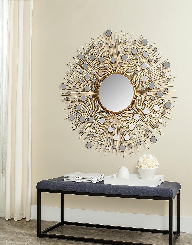 Safavieh Esme Spiegel, Metall, Gold,121 X 121 X 3.81 cm: Amazon.de ...