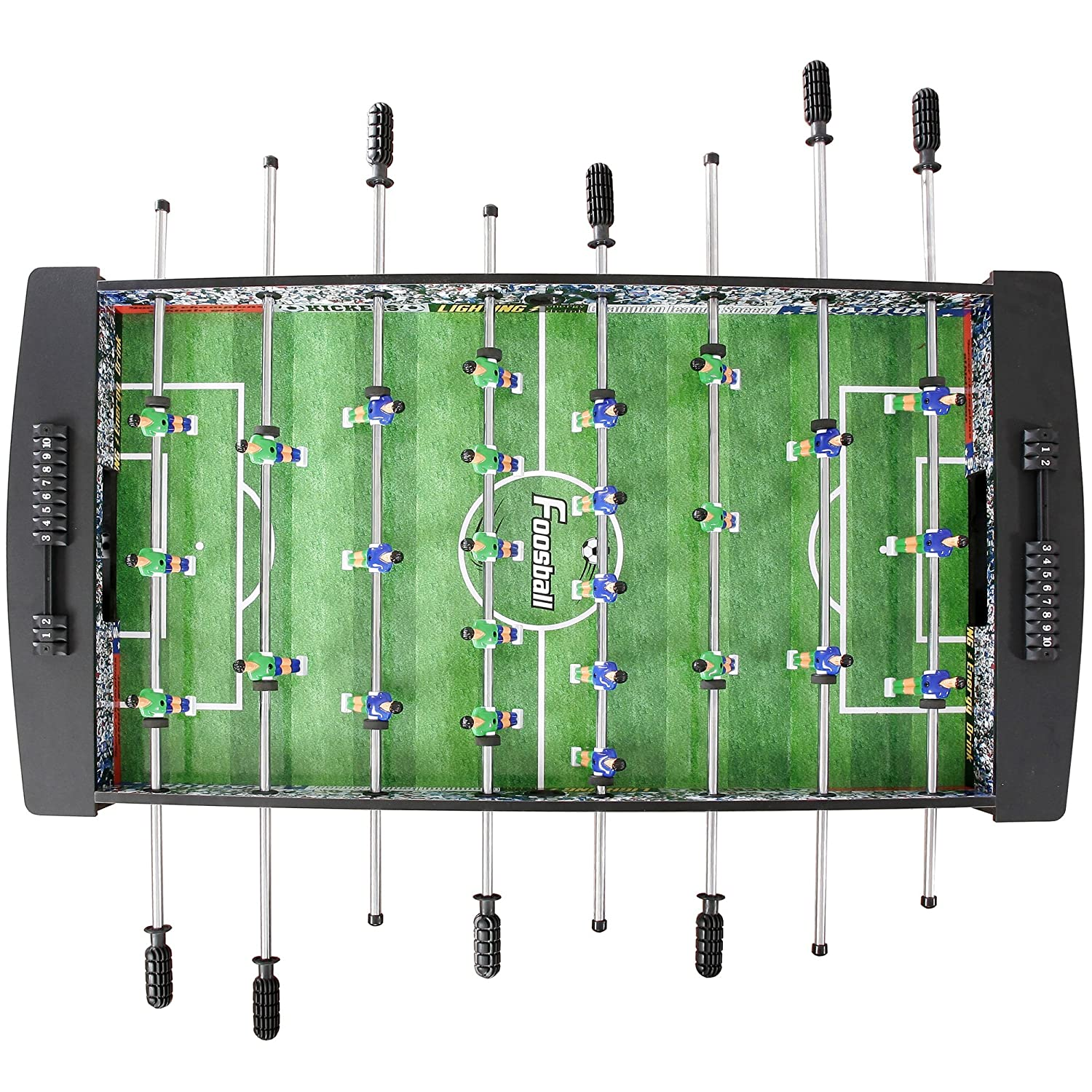 Amazon.com : Hathaway Playoff 4u0027 Foosball Table, Soccer Game For Kids And  Adults With Ergonomic Handles, Analog Scoring And Leg Levelers : Foosball  Tables ...