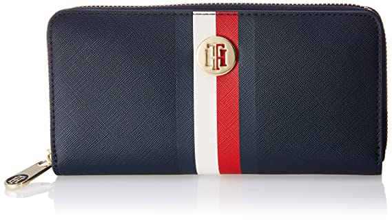 Tommy Hilfiger - Honey Lrg Za, Carteras Mujer, Azul (Corporate), 2.2999999999999998x10x19 cm (B x H T): Amazon.es: Zapatos y complementos