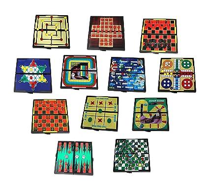 Amazon.com: Juego de 12 juegos de mesa magnéticos, diseño de ...