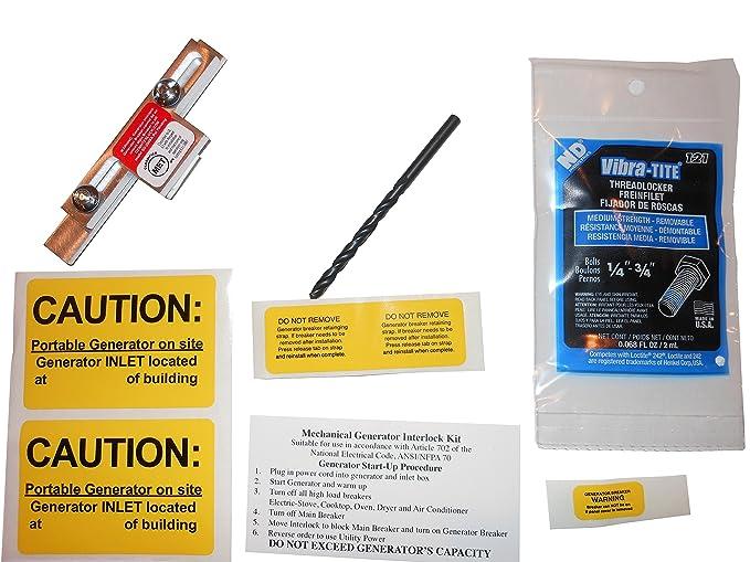 SD-200SA Square D Generator Interlock Kit for Homeline Meter Main 150 or 200 amp breaker