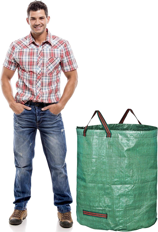 10 confezione con ferma MANIGLIE 50 litri Bin Liner GMB2483 EXTRA Forte SACCHI giardino