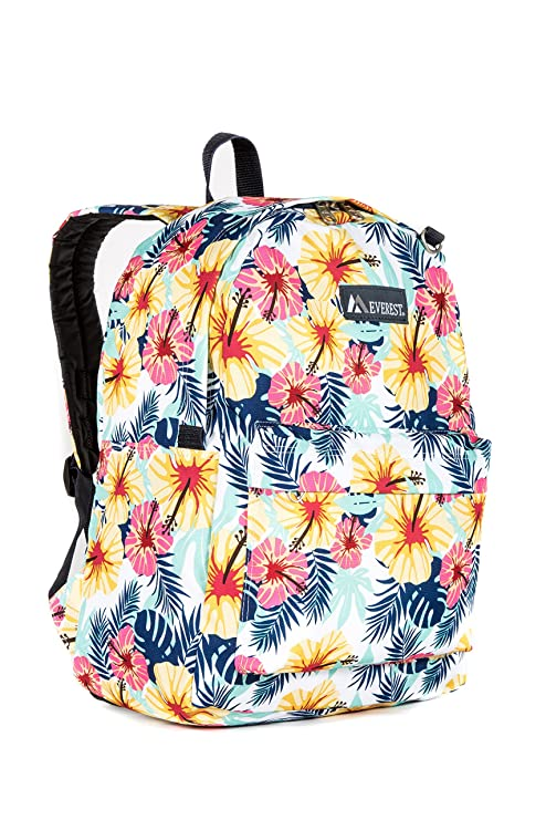 e5068866c Amazon.com | Everest Classic Pattern Backpack, Tropical One Size | Casual  Daypacks