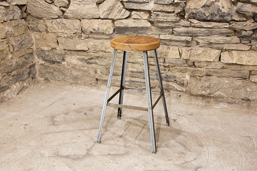 Astounding The Basic Brew Bar Stool Or Counter Stool With Reclaimed Wood Seat And Industrial Base Machost Co Dining Chair Design Ideas Machostcouk