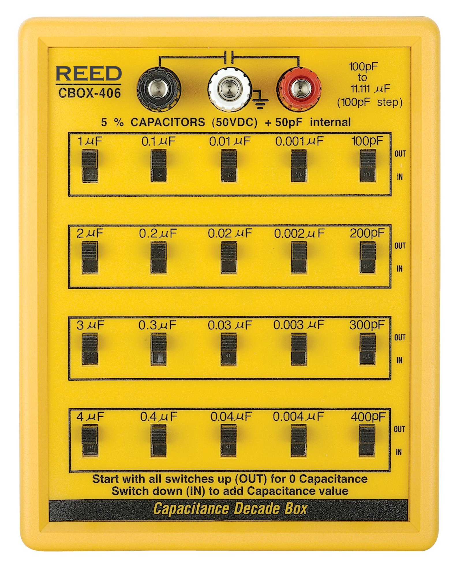 REED Instruments R5406 Capacitance Decade Box