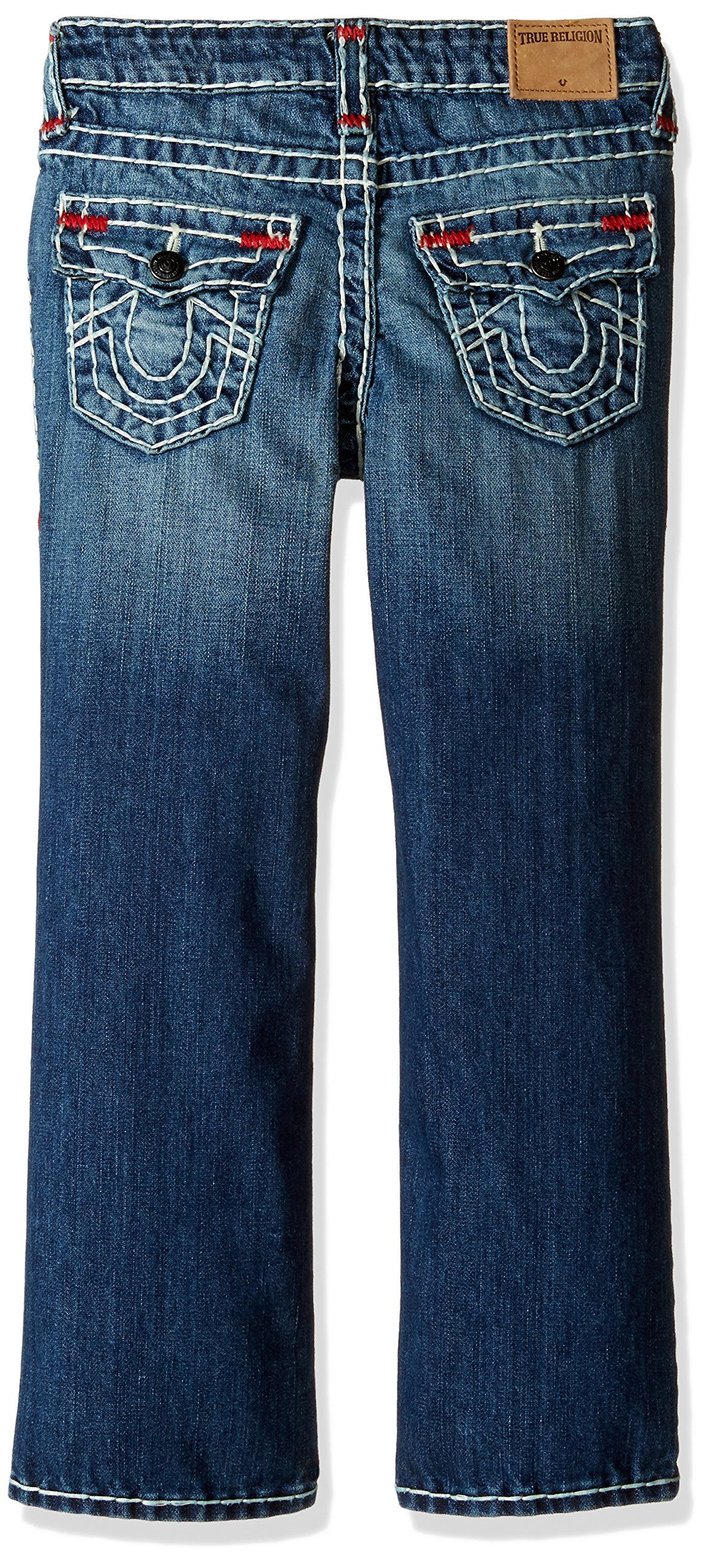 True Religion Boys' Ricky Contrast Super T Jeans, Grand Wash, 18 by True Religion (Image #2)