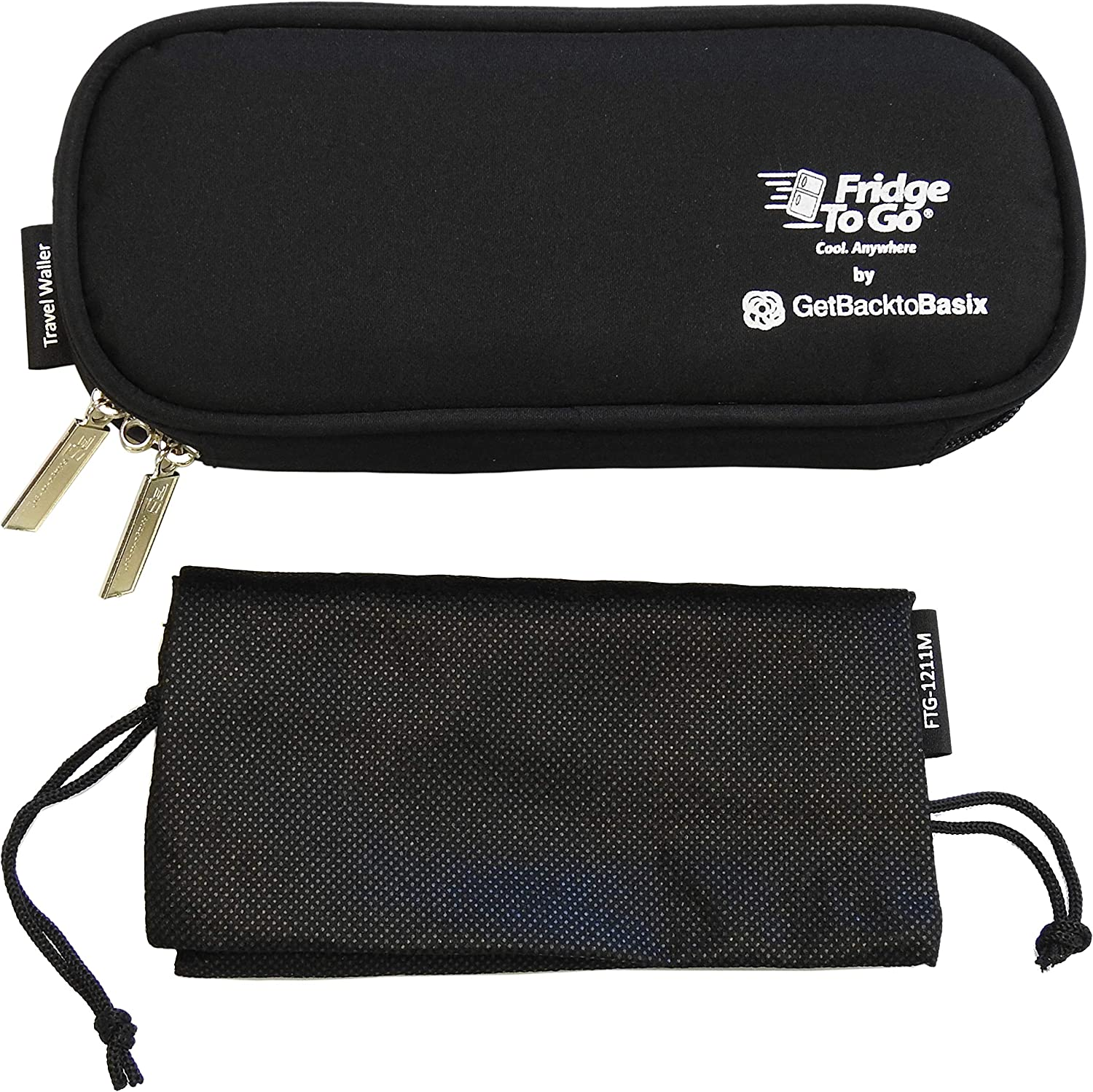 GetBacktoBasix Insulin Cooler Diabetic Medicine Travel Bag Mini - Insulated Epipen Carrying Case Keeps Medications Cool - FDA Approved   Mini