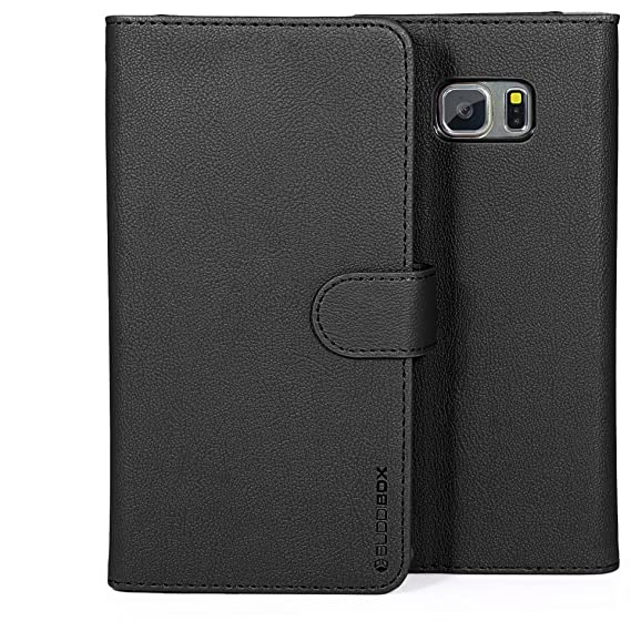 separation shoes 843f0 eba2f Note 5 Case, BUDDIBOX [Wallet Case] Premium PU Leather Wallet Case with  [Kickstand] Card Holder and ID Slot for Samsung Galaxy Note 5, (Black)