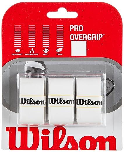 Wilson Pro Overgrip - Juego de 3 Grips para Raqueta de Tenis