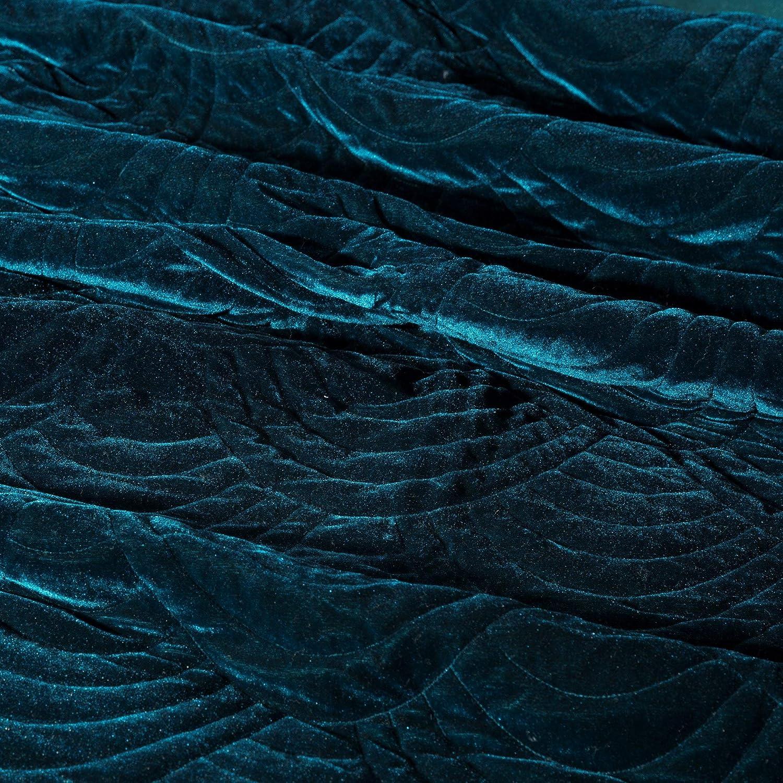 Colcha de Terciopelo Cama poli/éster Habitaciones Eurofirany Eden Glamour sal/ón Turquesa Oscuro Elegante Elegante 170 x 210 cm