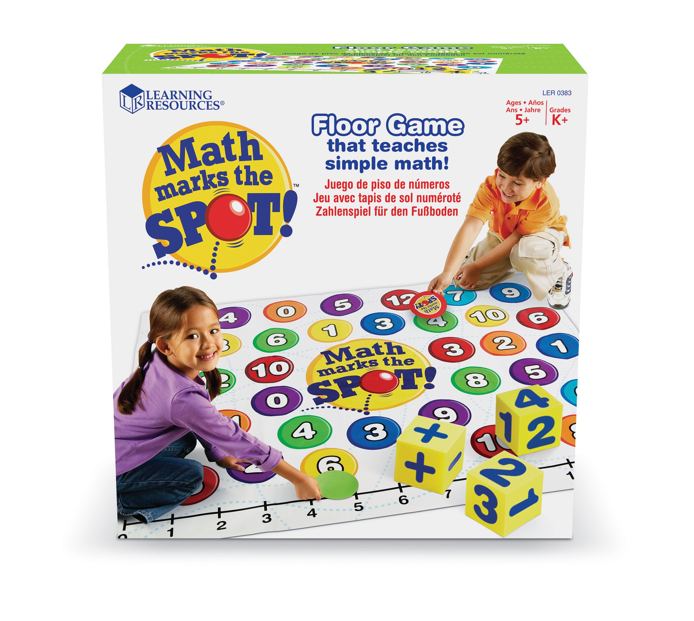 Learning Resources Math Marks The Spot Floor Game, Number Recognition, Addition & Subtraction, Ages 5+ by Learning Resources