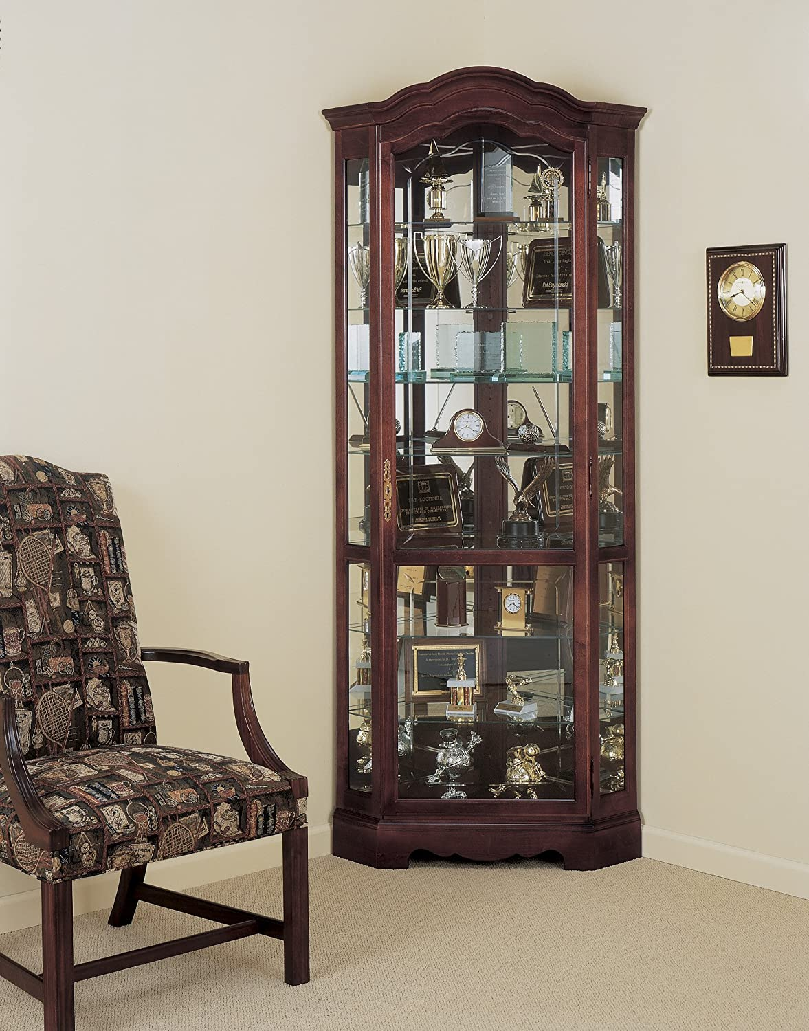 Perfect Amazon.com: Howard Miller 680 249 Jamestown Curio Cabinet: Kitchen U0026 Dining