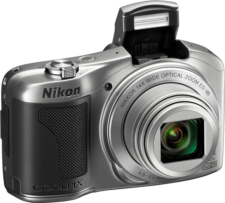 3 inch LCD Black 16MP, 14x Optical Zoom Nikon COOLPIX L610 Compact Digital Camera