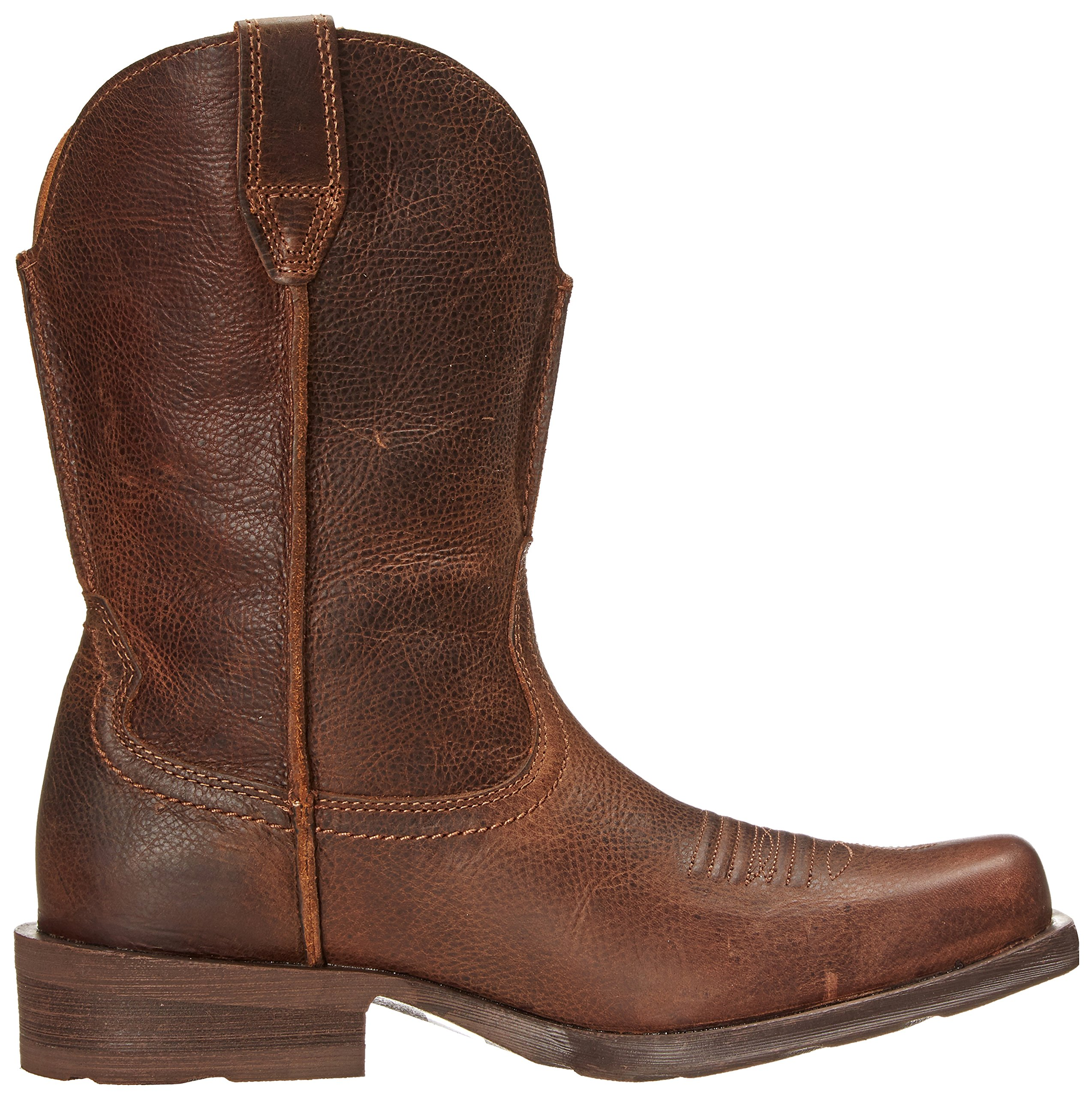 Ariat Men's Rambler Wide Square Toe Western Cowboy Boot, Wicker, 10 M US by ARIAT (Image #7)