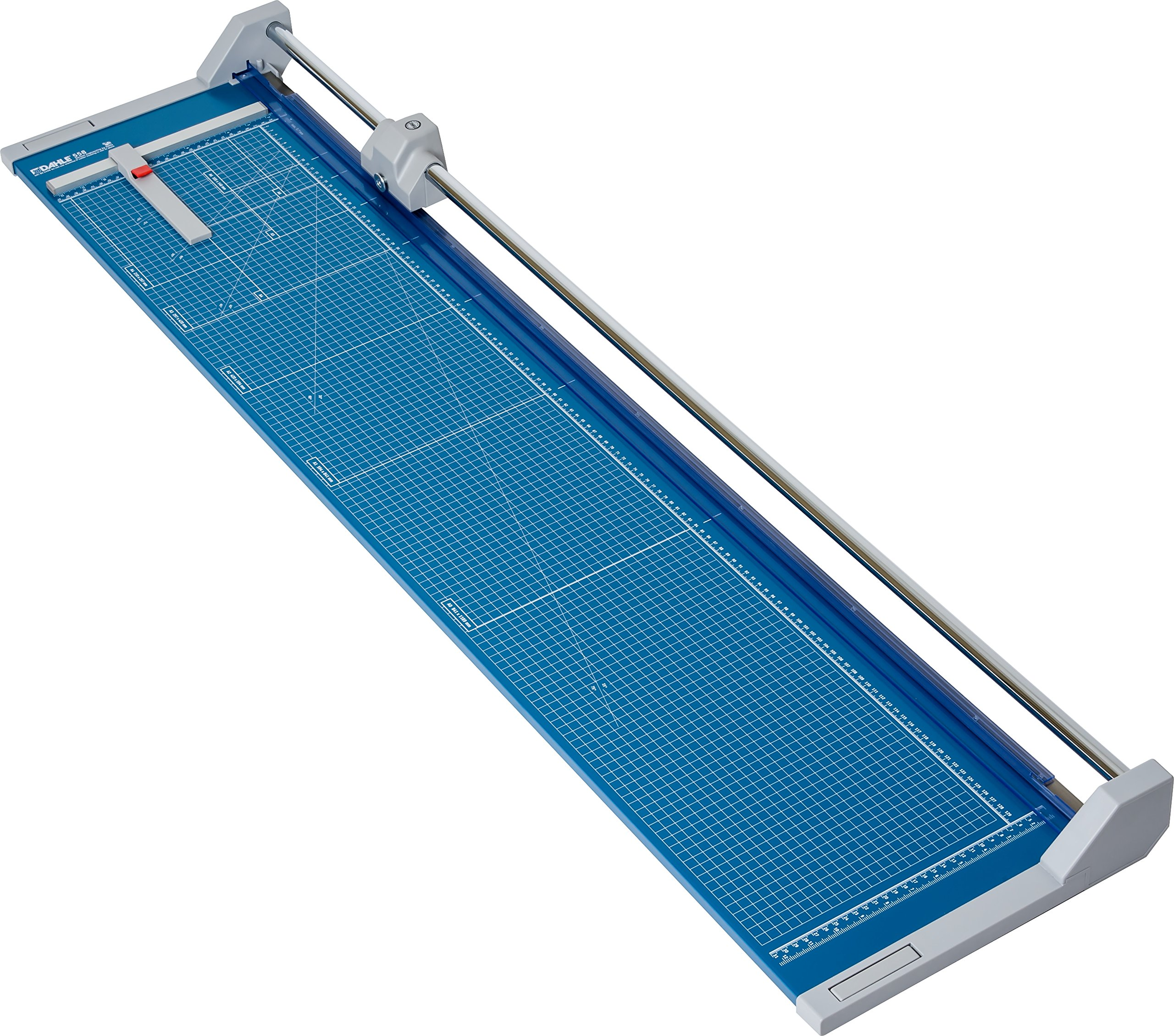 Dahle 558 Professional Rolling Trimmer, 51 1/8'' Cut Length, 12 Sheet, Self Sharpening Blade, Cuts in Either Direction, Automatic Paper , Metal Base, Paper Cutter by Dahle