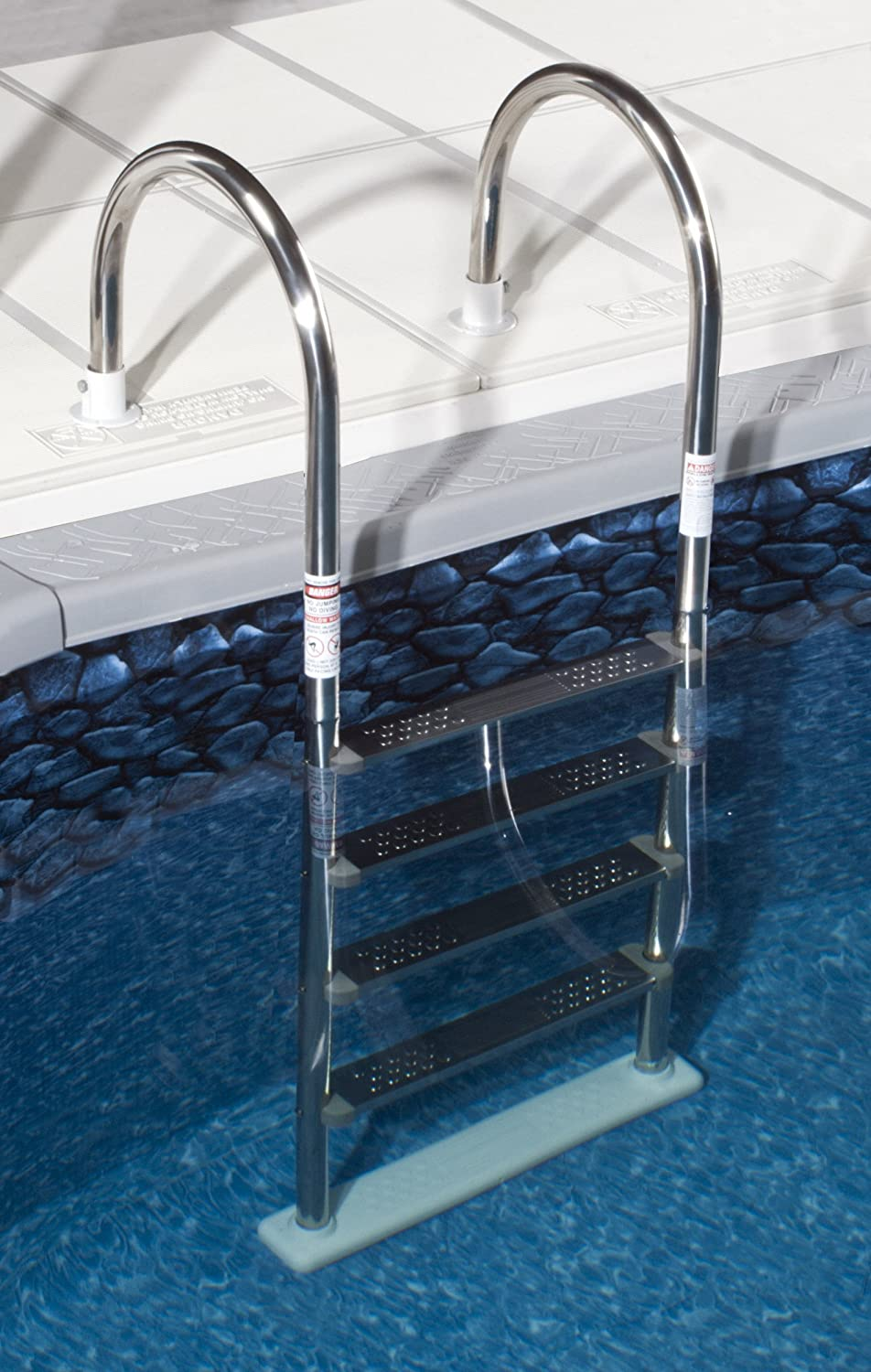 above ground pool steps. Swimming Pool Ladder In Ground Stair Steps Easy Entry Stainless Steel Safety New Above A