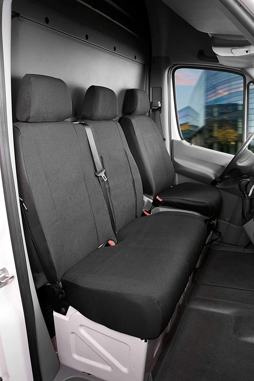Walser 10476 Autoschonbezug Transporter Passform Stoff Sitzbezug Anthrazit Kompatibel Mit Mercedes Sprinter Vw Lt Einzel Doppelbank Auto