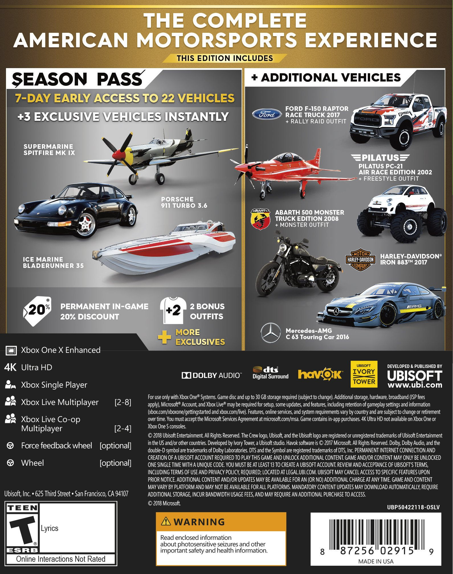 The Crew 2 GOLD Edition - Xbox One [Digital Code] by Ubisoft (Image #2)