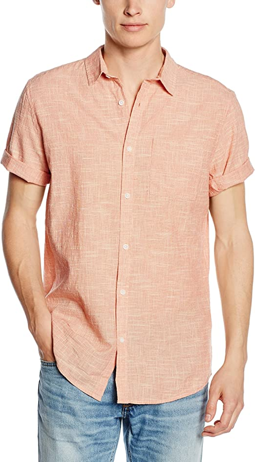 New Look Kaiser Texture Camisa, Naranja (Light Coral), Medium para Hombre: Amazon.es: Ropa y accesorios