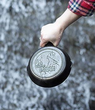 Lodge L5SKWLDK Wildlife Series Po/êle en fonte avec sc/ène de canard 20,3 cm Noir