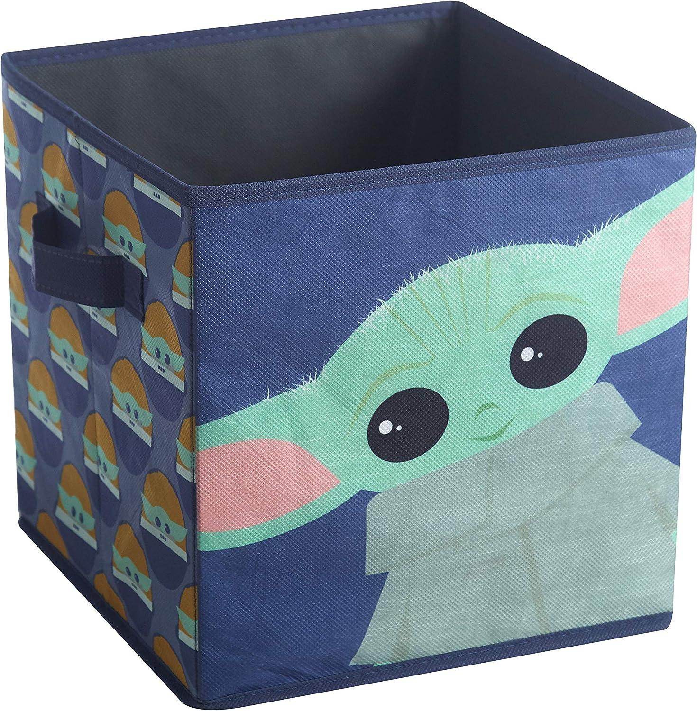 Blue NK330480 10x10x10 Idea Nuova Star Wars: The Mandalorian The Child 2 Pack Storage Cube