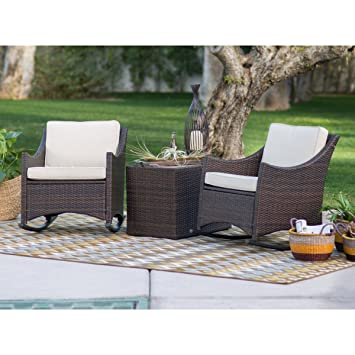 patio furniture harrison patio set 3 piece club style durable resin