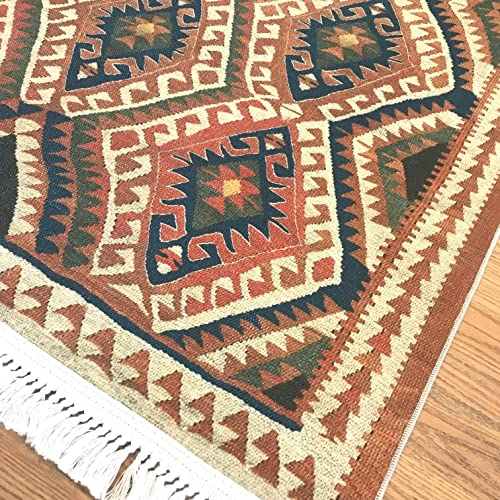 Turkish Area Rug by Home Boheme Kilim Design Area Rugs for Living Dining Room Hallway Kitchen 7 x10 , Van