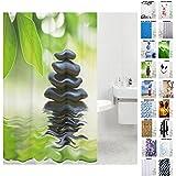 Duschvorhang, viele schöne Duschvorhänge zur Auswahl, hochwertige Qualität, inkl. 12 Ringe, wasserdicht, Anti-Schimmel-Effekt (Harmony, 180 x 200 cm)