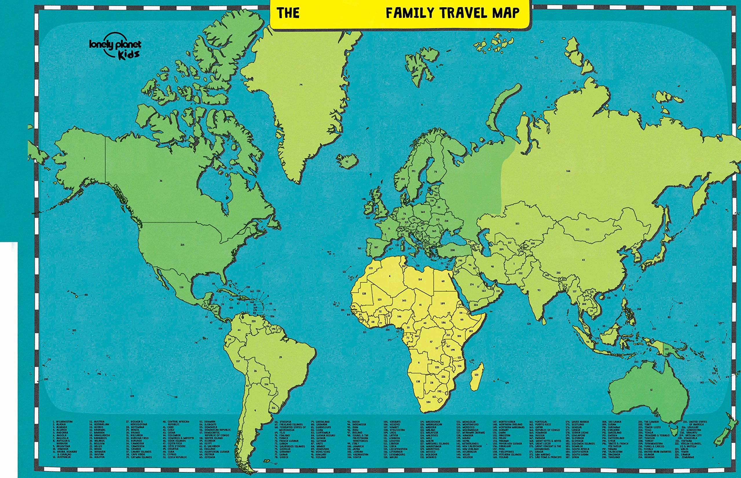 My Family Travel Map Lonely Planet Kids Lonely Planet Kids – Family Travels Map