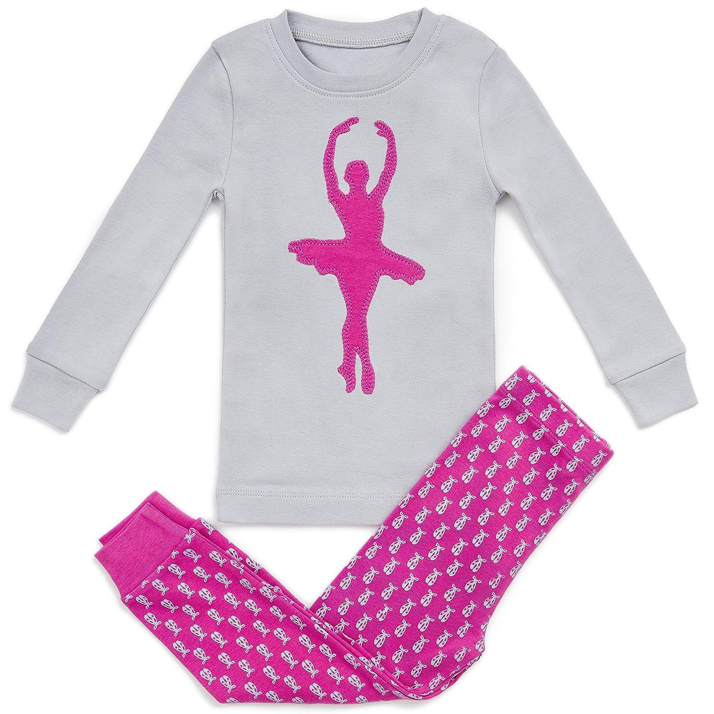 12m-8y Bluenido Girls Pajamas Ballerina 2 Piece 100/% Super Soft Cotton