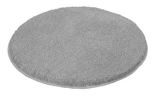 Kleine Wolke 5405189521 Badteppich Relax 100 Cm Rund Grau