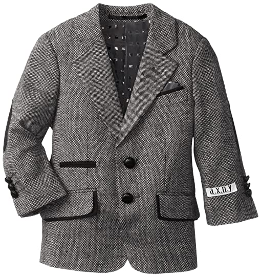 Amazon.com: a.x.n.y. Little Boys' Little Wool Tweed Blazer, Grey ...